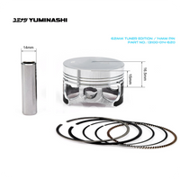 YUMINASHI 62MM TUNER EDITION PISTON SET (14MM PIN) (13100-014-620)