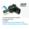 LOWER IDLE, MUCH EASIER TO START WITH HIGH COMPRESSION PISTON