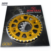 33T 7075-T6 Aviation Grade Sprocket, hand finished with self cleaning design...