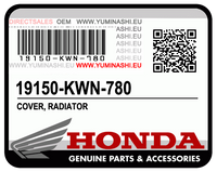 COVER, RADIATOR /  COUVERCLE COMP. RADIATEUR (PCX150 (2012-2014)) (19150-KWN-780)