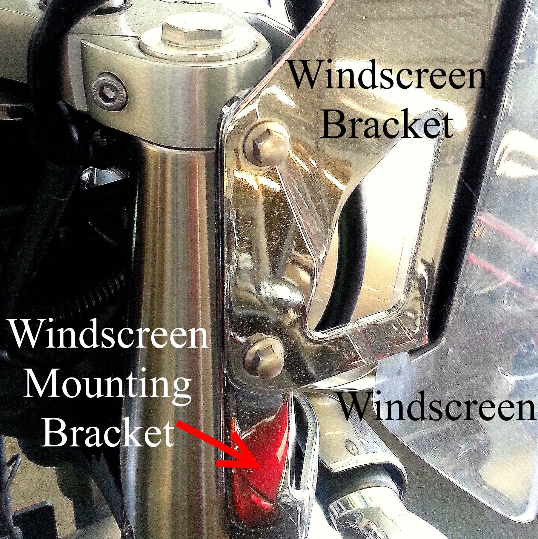 Yamaha V-Star Windscreen Mounting Bracket
