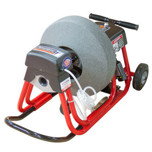 DM10 SPB - Sewer and Drain Cleaning machine showing the safety air foot pedal