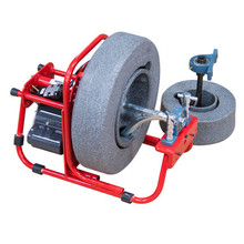"DM138A2 drain machine with 14"" cable drum and 8"" cable drum with two drain cables 3/8"" x 90' and 1/4"" x 37' sewer cables"