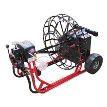 """DM55SPJ - Mainline sewer machine with 26"""" jumbo open metal reel to clean main sewer lines"""