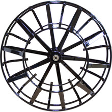 "The 21"" open spoke metal reel works with the DM55 and is recommended to be used with 5/8"" drain cables up to 100'."
