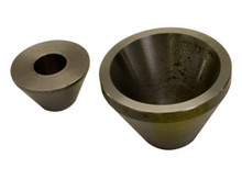 Duracable No. 1 65 degree cone chuck set is designed to attach V-bottom blades to sewer cable.