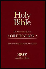 Holy Bible New Standard Revised Version: On the Occasion of Your Ordination (Nrsv Anglicized Edition) Leather Bound