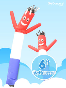 Red white and blue 6ft sky dancer