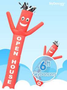 OPEN HOUSE inflatable dancing sky dancer advertising man 6ft.
