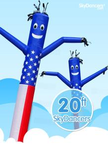 Sky Dancers American Flag - 20ft
