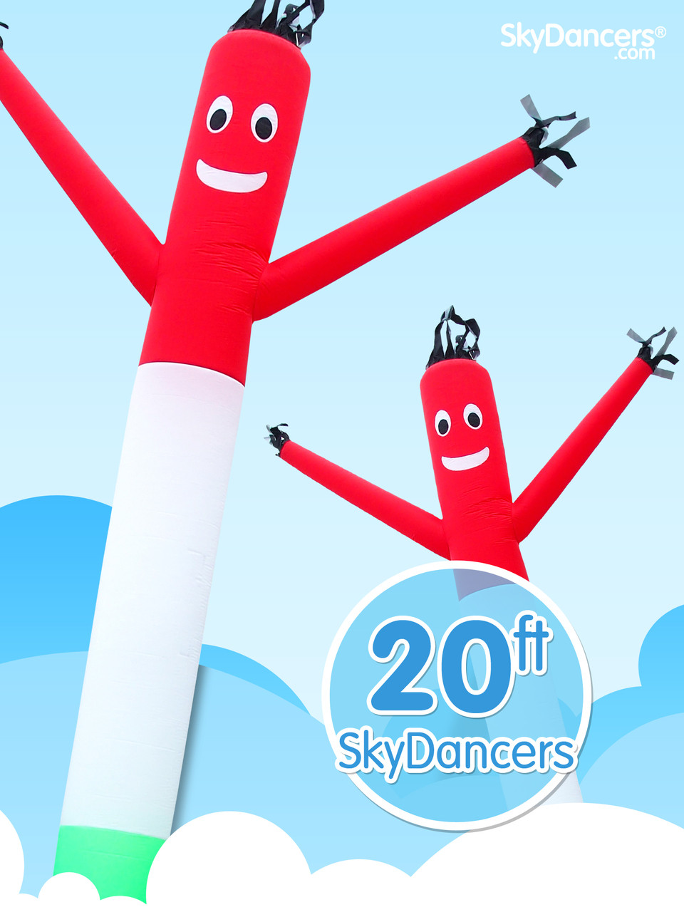 Italian Flag Sky Dancer 20ft Tall Attachment