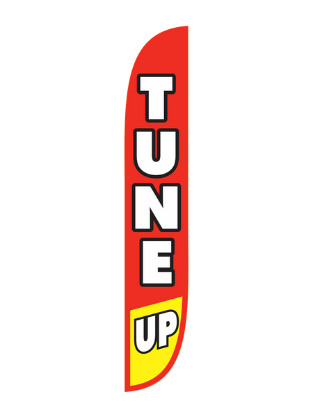 Tune Up Red/Yellow Feather Flag