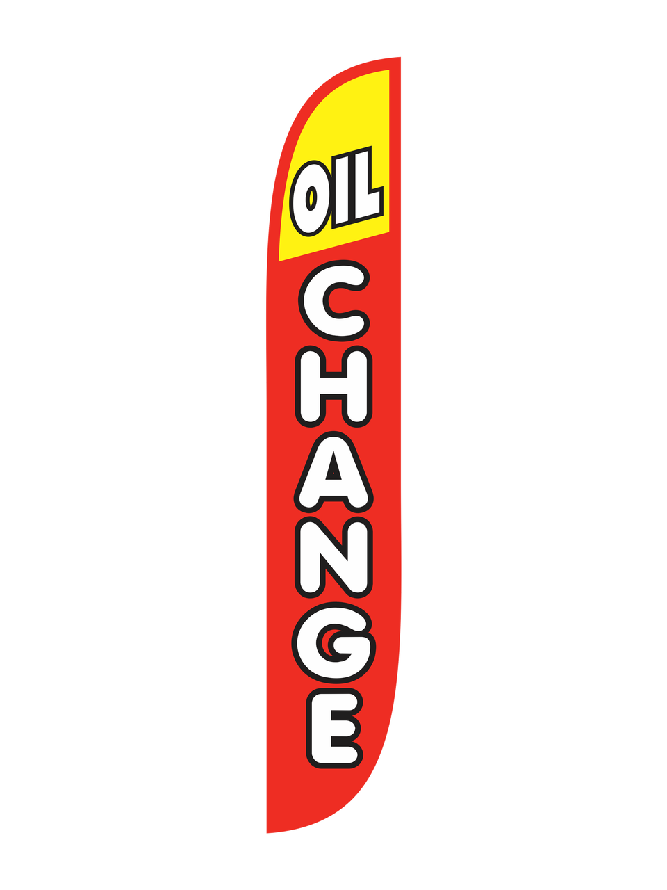Oil Change Red Amp Yellow Feather Flag
