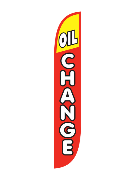 Oil Change Red/Yellow Feather Flag