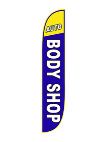 Auto Body Shop Feather Flag