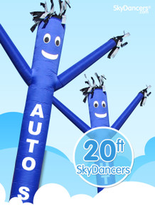 Sky Dancers Auto Sales Blue - 20ft