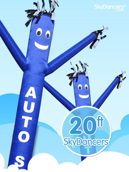 Sky Dancers Auto Sales Blue - 20ft