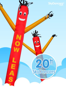 Sky Dancers Now Leasing Red with Yellow - 20ft