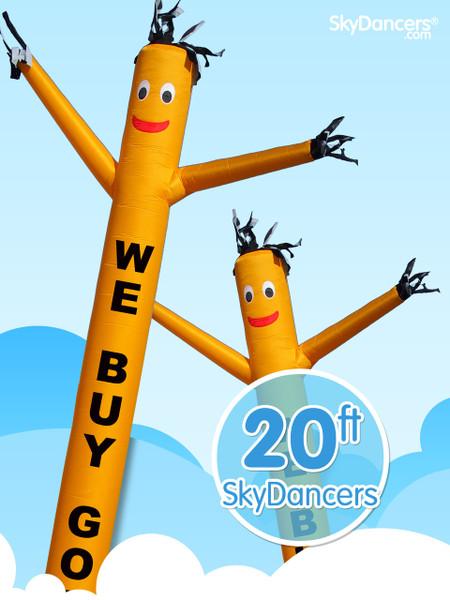 Sky Dancers We Buy Gold Yellow - 20ft