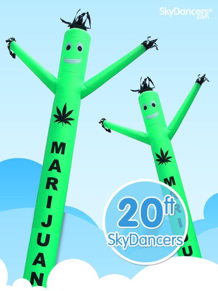 Sky Dancers Marijuana Green - 20ft