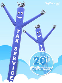 Sky Dancers Tax Services Blue - 20ft