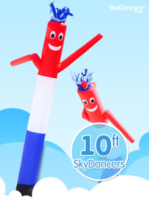 Sky Dancers Red White & Blue - 10ft