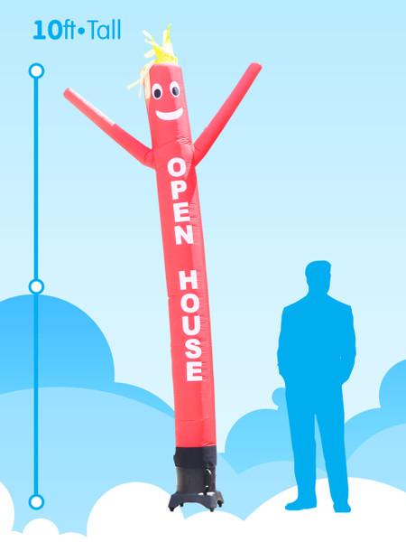 Sky Dancer Red OPEN HOUSE - 10ft