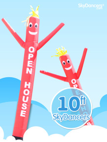 Sky Dancers Red OPEN HOUSE - 10ft