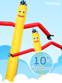 Sky Dancers Car Shape Yellow with Red - 10ft