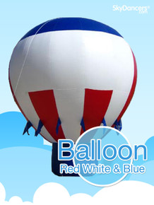 Giant Balloon Red White & Blue