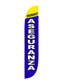 Insurance Aseguranza Feather Flag