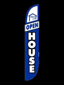 Open House Blue & White Feather Flag