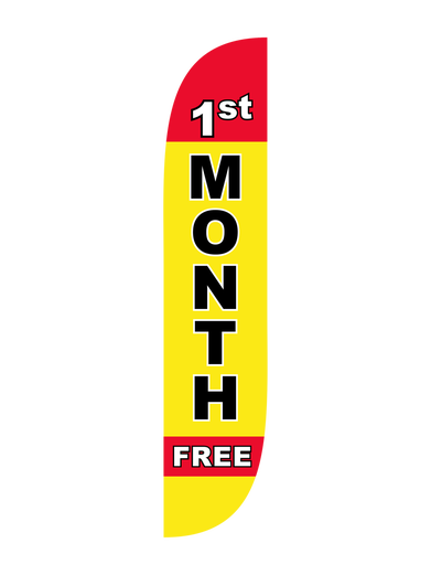 1st Month Free Feather Flag