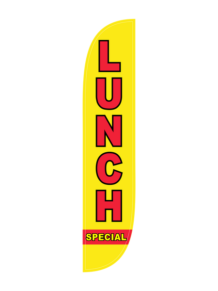 Lunch Special Feather Flag