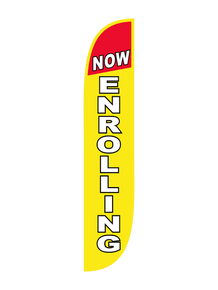 Now Enrolling - Yellow Feather Flag