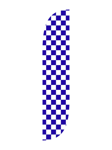 Blue & White Checkered Feather Flag