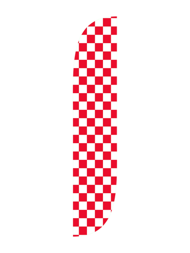 Red & White Checkered Feather Flag