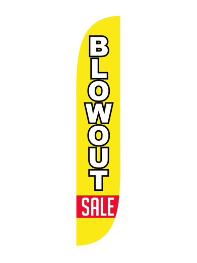 Blowout Sale Feather Flag