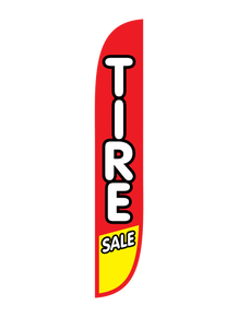Tire Sale Red & Yellow Feather Flag