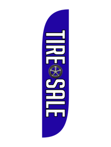 Tire Sale - Tire Image Feather Flag