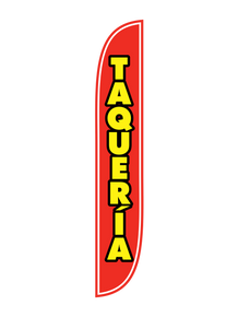 Taqueria Red Feather Flag