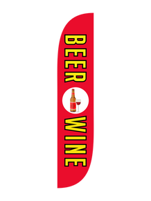 Beer & Wine Red Feather Flag