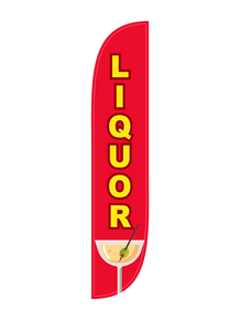 Liquor Feather Flag