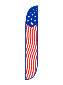 American Flag Vertical Feather Flag