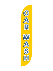 Car Wash Yellow & Red Feather Flag