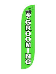 Pet Grooming Feather Flag