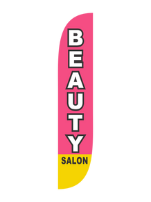 Beauty Salon Pink - Feather Flag