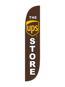 The UPS Store Brown Feather Flag