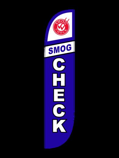 Smog Check Blue Feather Flag