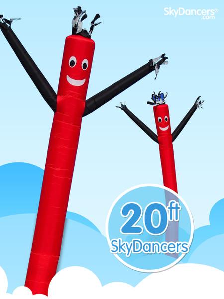Sky Dancers Red & Black - 20ft